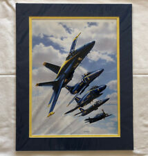 "STU SHEPHERD ""BLUE ANGELS HERITAGE"" SIGNED LIMITED EDITION PRINT #28/300"