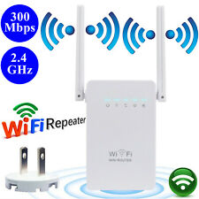 300Mbps 2 Antennas Wireless-N Wifi Router Repeater Range Signal Booster Extender
