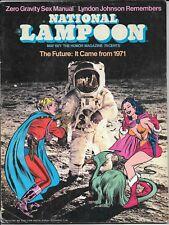 National Lampoon  magazine May 1971  Zero Gravity Sex Manual  NL