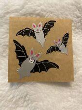 Vintage Sticker Sandylion Brown Backing Bats Halloween