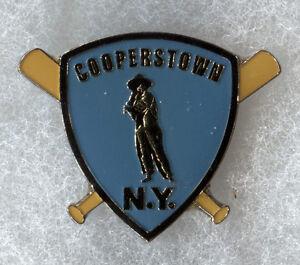 """COOPERSTOWN NEW YORK HOME OF BASEBALL SANDLOT KID 1.5"""" SOUVENIR PIN BUTTON"""