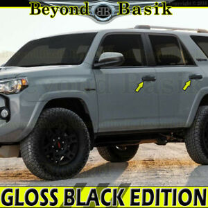 For 2010-2020 TOYOTA 4Runner GLOSS BLACK Door Handle COVERS Trims W/O Smart KH