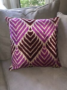 New Silk Turkish Velvet Pink Throw Pillow Boho eclectic and very Cool