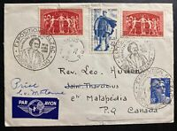 1950 France Airmail First Day Cover FDC to St tharsicius Canada BALZAC Exhibitio