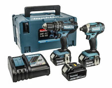 Makita Cordless Combi Drill and Impact Driver DLX 2131 JX1 c/w 3 Batteries
