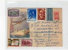 RUSSIA: 1958 Registered up-rated postal stationery to London (C44139)