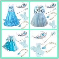 Vestidos Frozen Vestidos de fiesta para niñas Vestir traje de Elsa para Anna 2-9