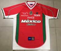 VTG 2002 Atletica Soccer Mexico Sz S red futbol training Jersey shirt world cup