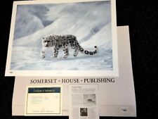 """Charles Frace'  S/# Lithograph & Stamp:  GRAY GHOST--snow Leopard  1996  >30"""""""