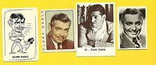 Clark Gable Movie Actor Gone with the Wind Fab Card LOT D It Happened One Night