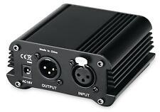 PA DJ Phantomspeiseadapter Phantom Power 48v Studio XLR Mikrofon Power Supply