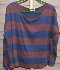 Woman's Navy Blue & Maroon Shirt by Old Navy; Size:  XXL