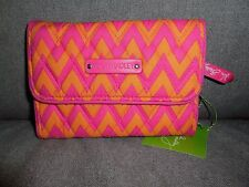 Vera Bradley Ziggy Zags Euro Wallet--new! #14446-184 $32 MSRP
