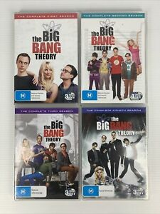 The Big Bang Theory : The Complete Seasons 1 - 4 DVD Disc Sets R4 TRACKED POST