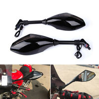 Black Motorcycle Rear View Mirrors LED Turn Signals For Ducati Monster 400 696