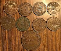 LOT OF 9 CANADA COINS