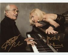 AUTOGRAPHES SUR PHOTO 20 x 25 de Natalie DESSAY et Michel LEGRAND signed person