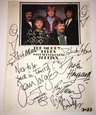 The MOODY BLUES signed 11x14 page by 6 members - AUTOGRAPH - BAS certified LOA