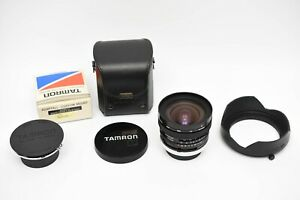 Excellent Tamron SP 17mm F/3.5 Adaptall W/ Nikon Ai-S & Canon FD adapters