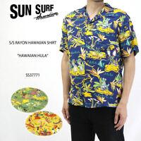 SUN SURF SS37771 HAWAIIAN HULA year 2018 Model NEW HAWAIIAN ALOHA SHIRT RAYON