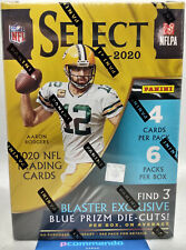 More details for 2020 panini select nfl american football cards sealed blaster box blue die cuts