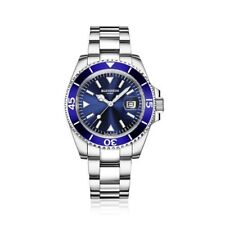 BLENHEIM LONDON® Luminous Sapphire Glass Blue Dial Navigator Diver Watch