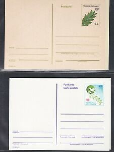 UNITED NATIONS VIENNA MNH 1982-2002 4 POSTAL STATIONERY CARDS