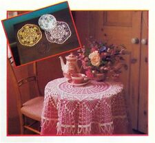 Lace Tablecloth (Two Sizes) and Mat Vintage Crochet Pattern 10120