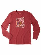 Life Is Good Long Sleeve Shirt My Family Puts the FUN in Dysfunctional Unisex XL