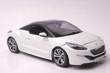 Peugeot RCZ 2012 car model in scale 1:18 white