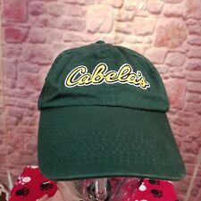 Cabela's Men's Hat Ball Cap Dark Green w Embroidery Yellow Lettering
