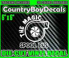 THE MAGIC SPOOL BUS Vinyl DECAL Sticker DIESEL TURBO TRUCK Lifted Stacks Snail