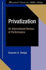 Privatization: An International Review of Performance (Paperback or Softback)