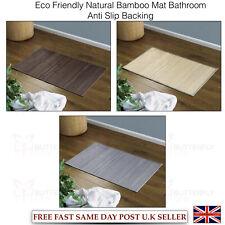 ECO FRIENDLY DESIGN NATURAL BAMBOO FLOOR BATH BATHROOM KITCHEN MAT RUG ANTI SLIP
