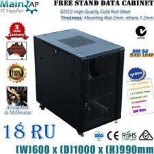 """Melbourne 18U 19"""" 1000mm Standing Network Server Cabinet Data Rack"""