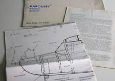 KAROUSEL RC-Hochdecker Modellbauplan + Anleit., RC-Bauplan, 1970, Neckar-Verlag