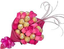 UNIQUE Ferrero Rocher & Wooden Roses Chocolate Bouquet Flower Birthday Gift