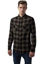 Checked Flanell Shirt 3 Urban Classics Streetwear Maglietta Uomo Camicia M Blk/olive
