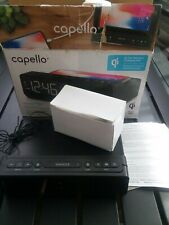 Capello Wireless Charge Alarm Clock Radio QI - Black (CR40)