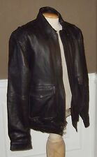 Mens sz XL Ultra One Platinum Black Leather Jacket Coat Retails $249 new bomber