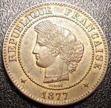 France - IIIème République - 5 centimes Cérès 1877K, Bordeaux SUP/SPL - F.118/16