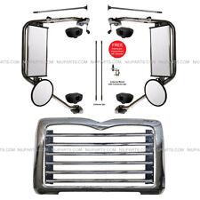 Metal Grille w/ Surround Chrome & Door Mirror Heated LH & RH (Fit: Mack CT713 )