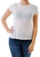 Sundry Women's Authentic Short Sleeve Tee T-shirt White Size US 1