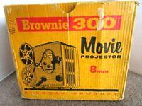 Vintage Kodak 8mm Movie Projector Brownie 300 With Original Box - Rack Bottom