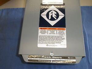 1-1/2 HP 230V 1PH Franklin Control Box Submersible Water Pump # 2823008110