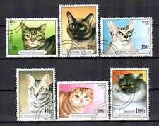 Chats Togo (16) série complète de 6 timbres oblitérés