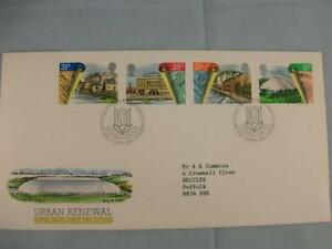 First Day Stamp Cover, 'Urban Renewal'  Royal Mail set 4 stamps issue April 1984