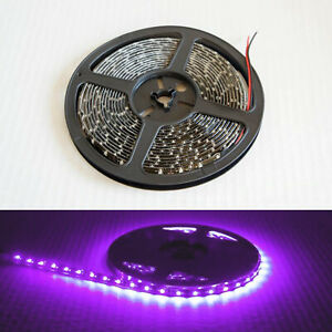 Bright 16.4ft 5050 Waterproof SMD 300 LED Flexible Strip Tape Room Lights Purple