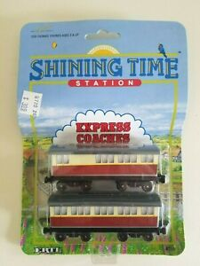 1995 Ertl Shining Time Station EXPRESS COACHES Train Cars Thomas The Train  MOC