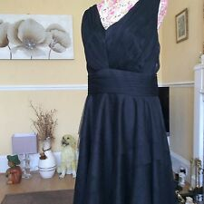 Monsoon Black Net Layered Dress Size 20 Vgc Not Being Relisted Until August